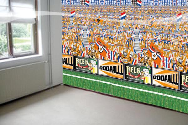 Speed Decor Voetbal Oranje 1.8x4.8 mtr