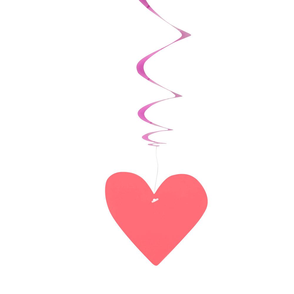 3st Hangdeco Spiraal Love 85cm