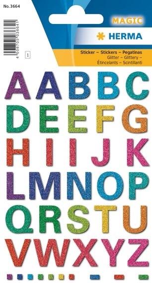 Stickervel met Glitter Letters
