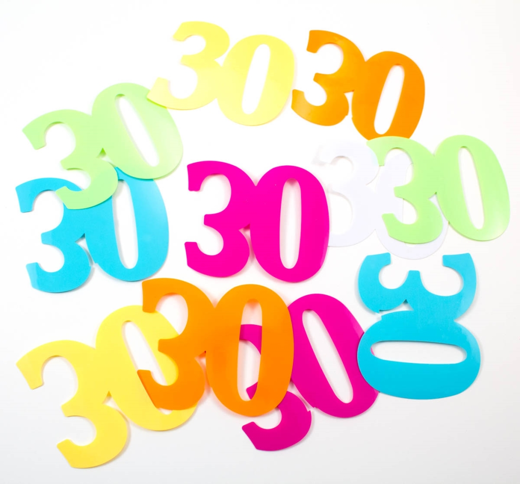 12st Tafelconfetti Multi XL 30 Jaar