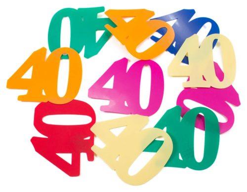 12st Tafelconfetti Multi XL 40 Jaar