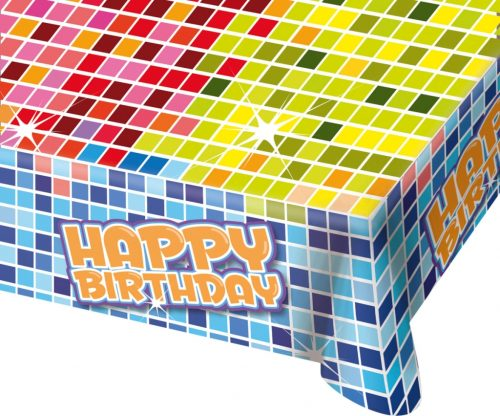 Tafelkleed Happy Birthday 130x80cm