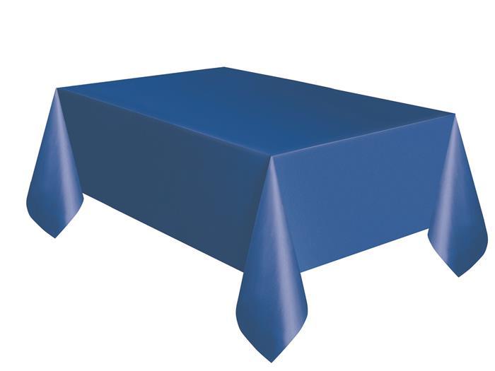 Tafelkleed Plastic Uni Blauw 137x274cm