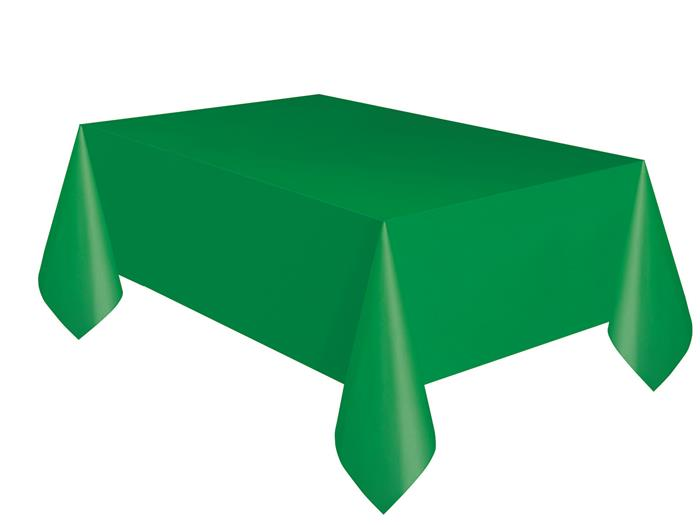 Tafelkleed Plastic Uni Groen 137x274cm