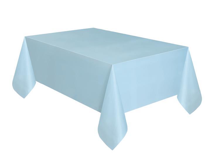 Tafelkleed Plastic Uni Licht Blauw 137x274cm