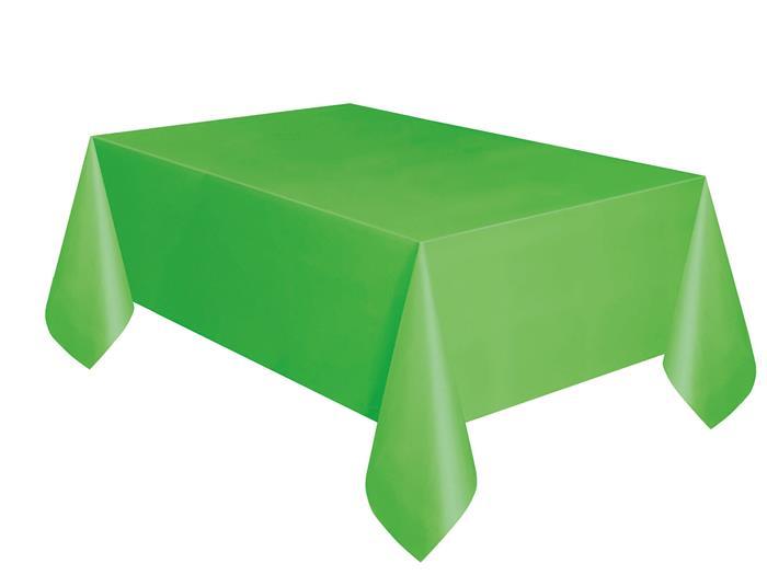 Tafelkleed Plastic Uni Lime Groen 137x274cm