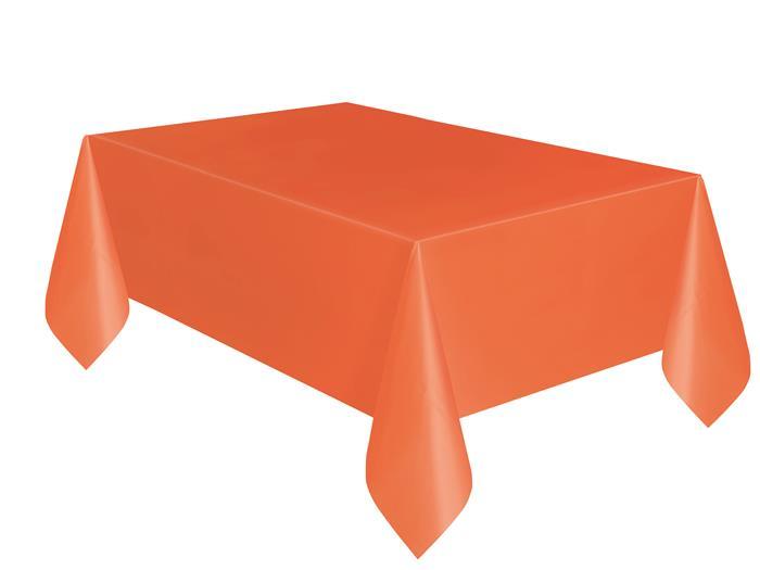 Tafelkleed Plastic Uni Oranje 137x274cm