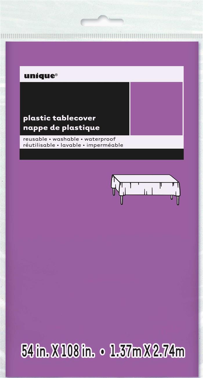 Tafelkleed Plastic Uni Paars 137x274cm