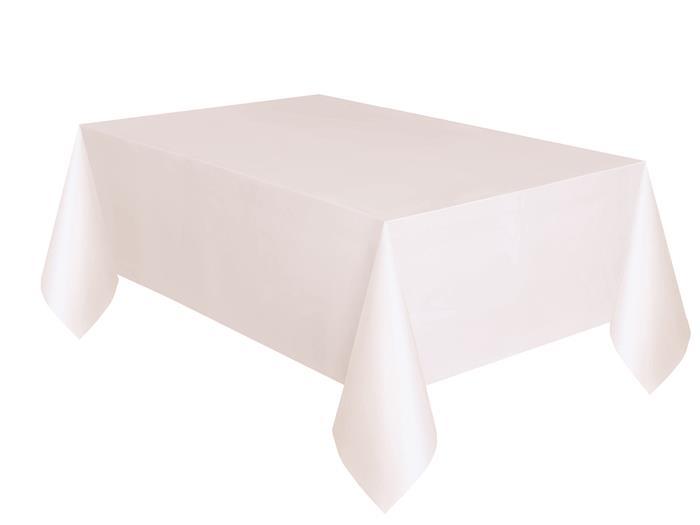Tafelkleed Plastic Uni Wit 137x274cm