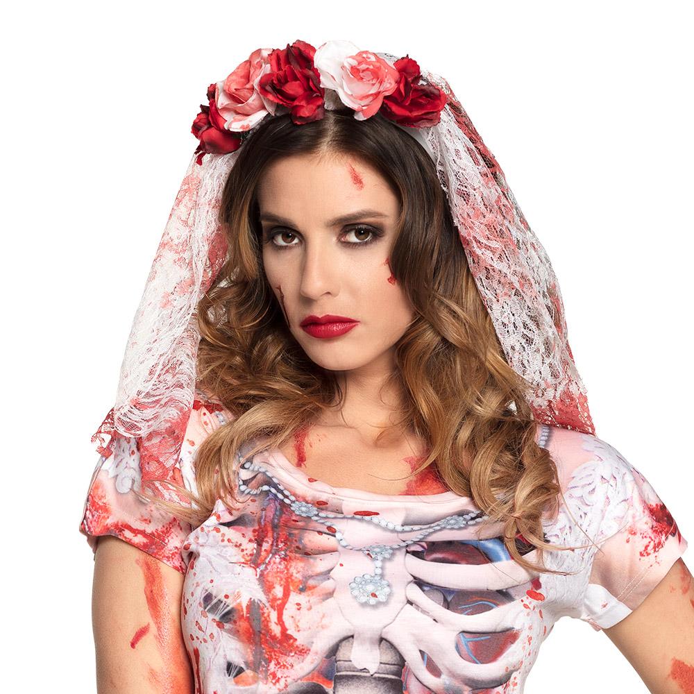 Tiara Horror Bruid Kant met Bloed