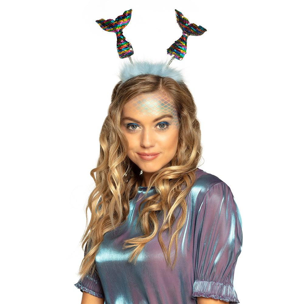 Tiara Regenboogstaarten met Omkeerbare Pailletten