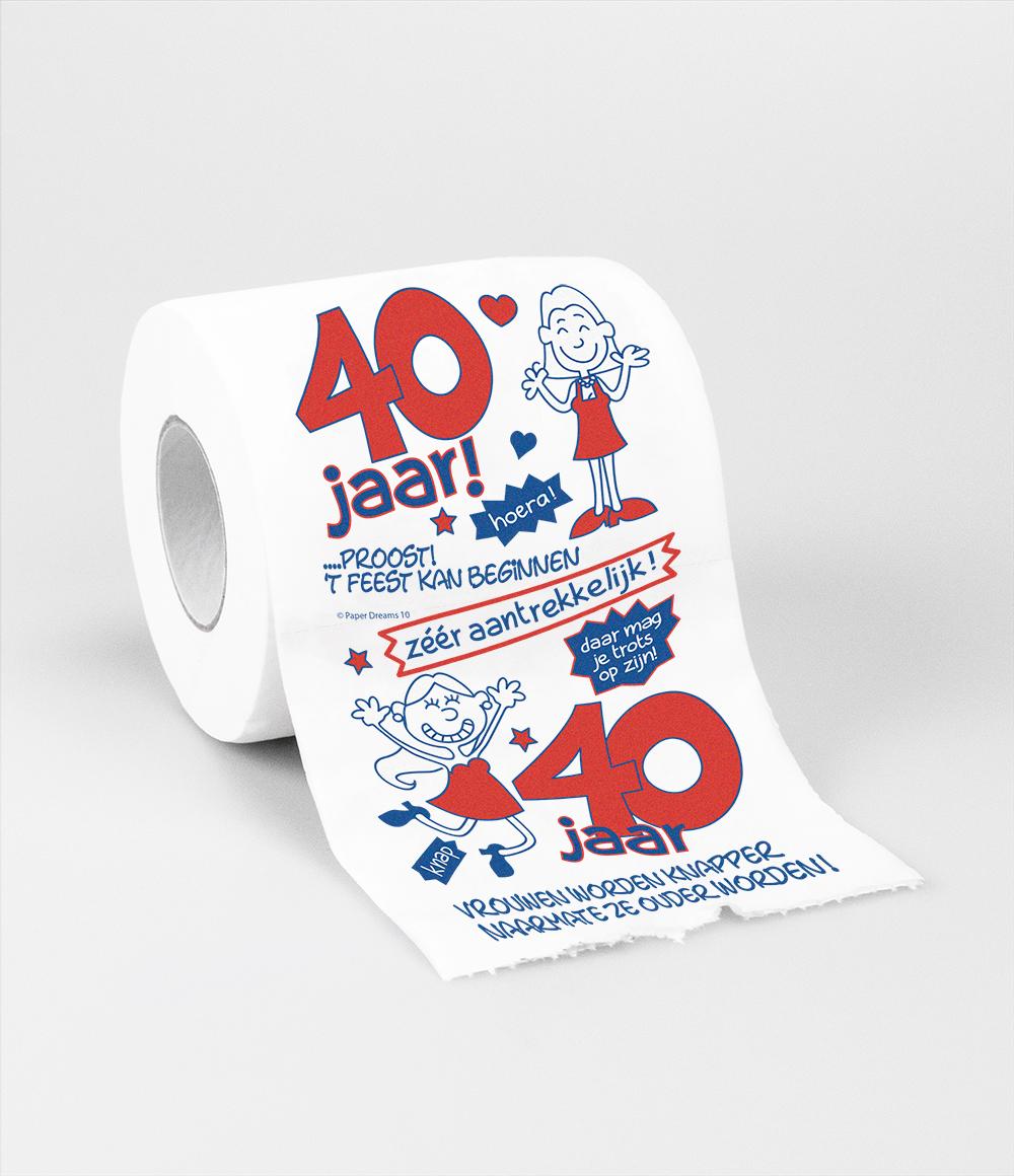 Toiletpapier 40 jaar Vrouw