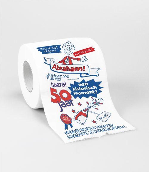 Toiletpapier 50 jaar Abraham