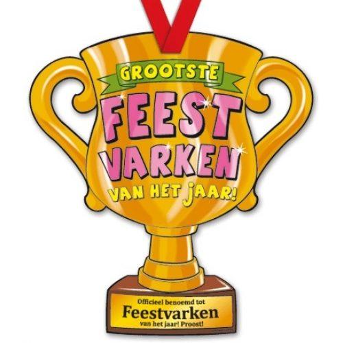 Trophy met Lint 38-Feestvarken