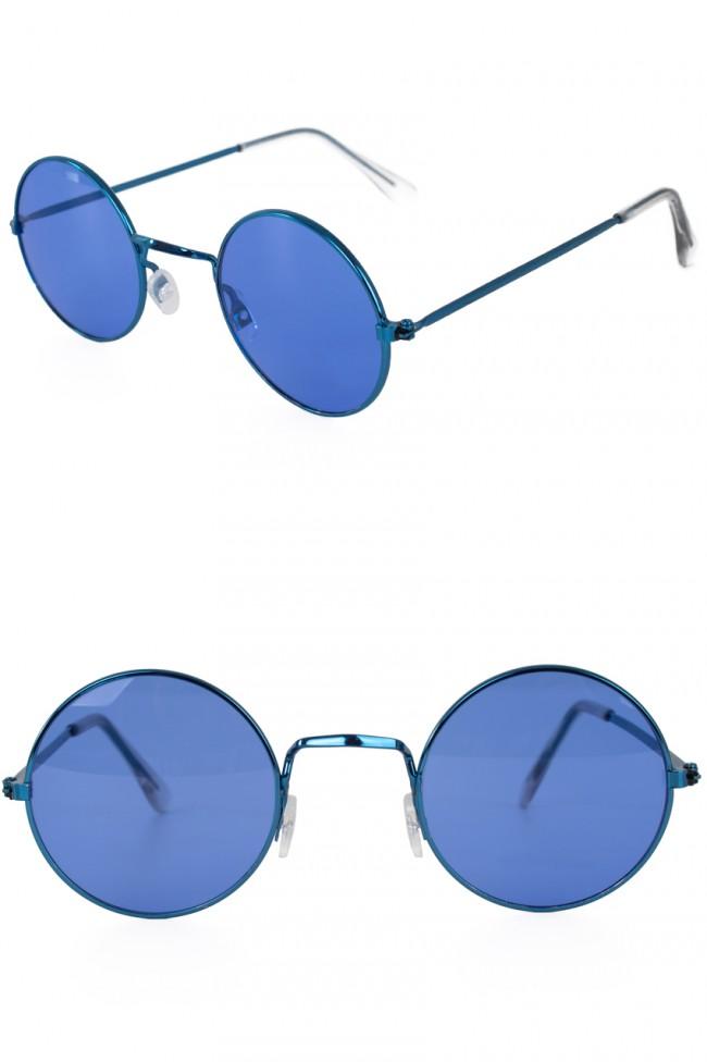 Hippie/Uilebril Blauw Glas