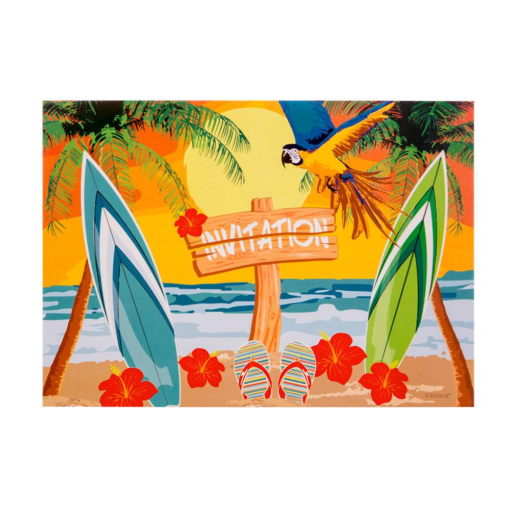 6st Uitnodigingen Beach