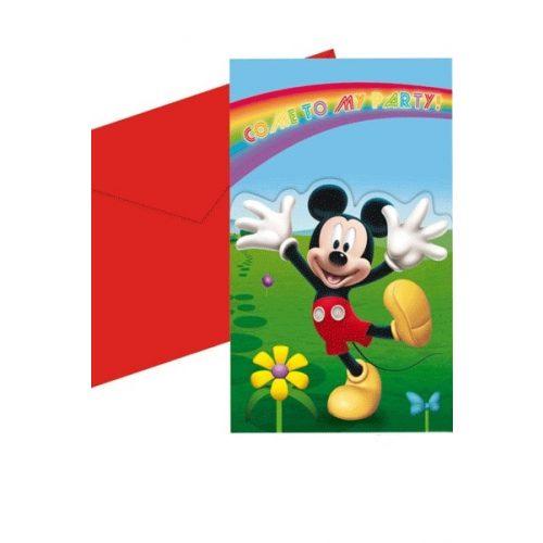 8st Uitnodigingen Mickey Mouse