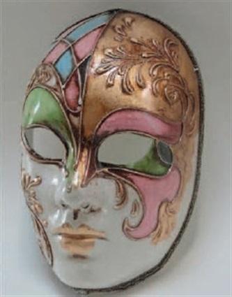 Venetiaans Masker Gesso Multicolor