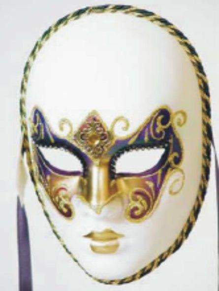 Venetiaans Masker Volto Ricamo Arcobal