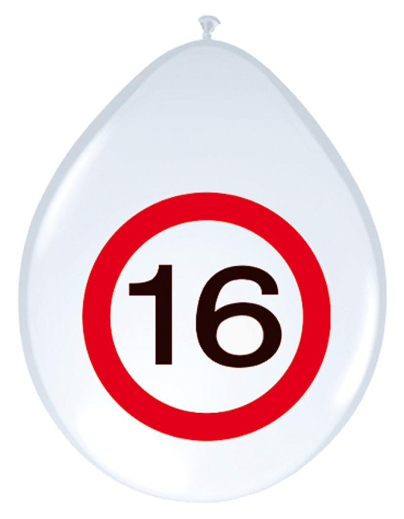 8st Verkeersbord ballon 16 jaar 12''