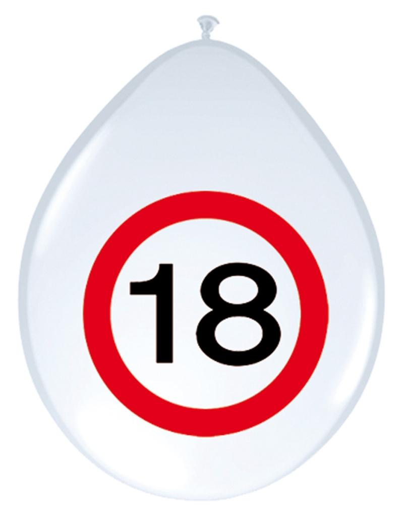 8st Verkeersbord ballon 18 jaar 12''