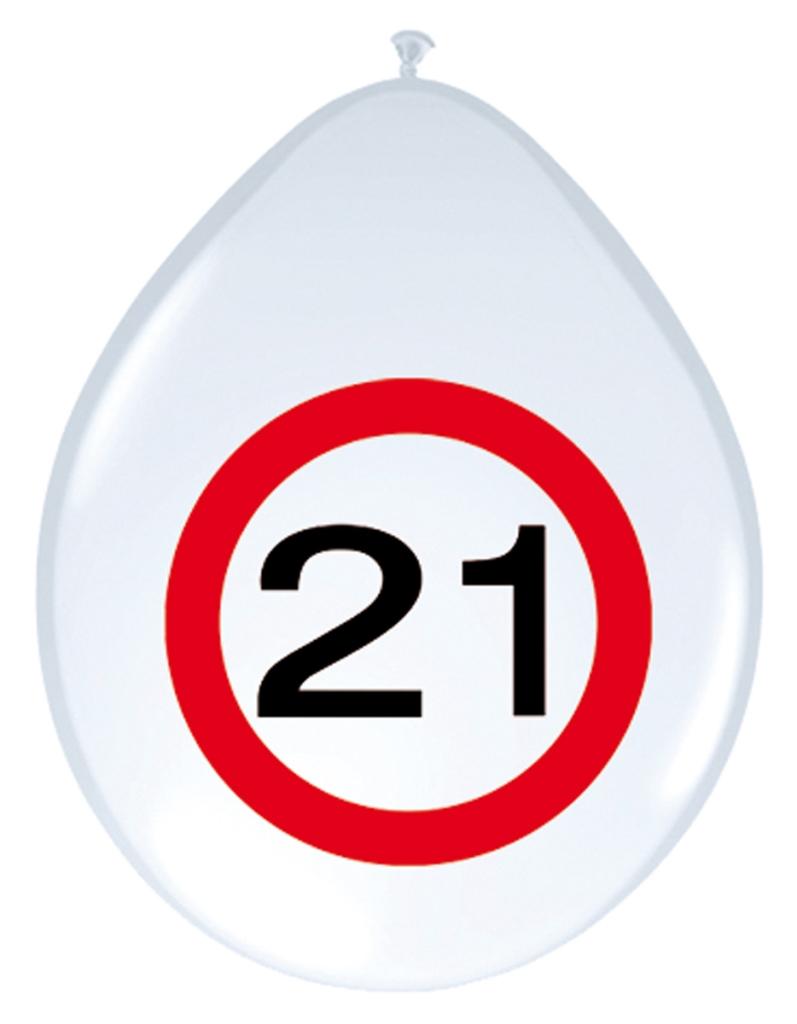 8st Verkeersbord ballon 21 jaar 12''