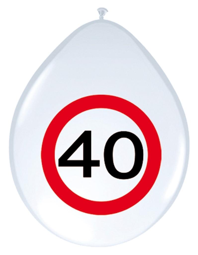 8st Verkeersbord ballon 40 jaar 12''