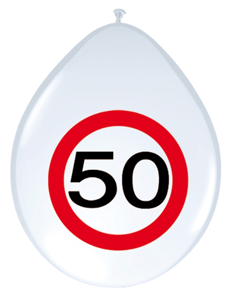 8st Verkeersbord ballon 50 jaar 12''