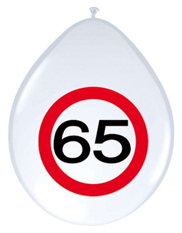 8st Verkeersbord ballon 65 jaar 12''
