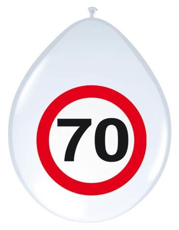8st Verkeersbord ballon 70 jaar 12''