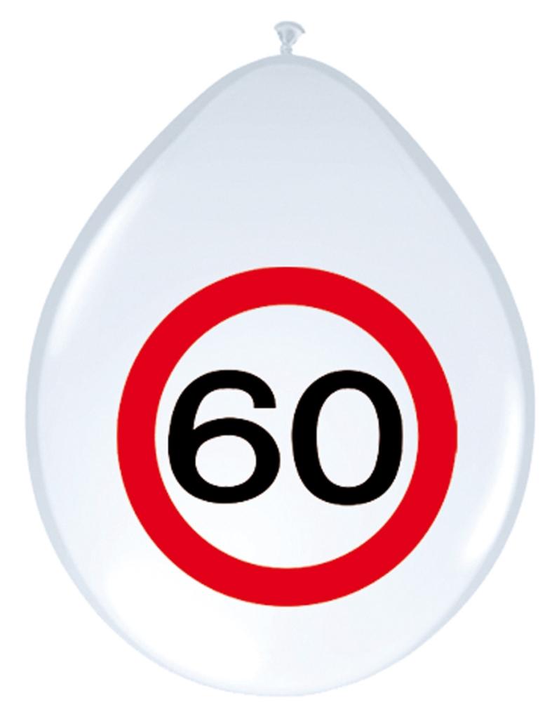 8st Verkeersbord ballon 60 jaar 12''