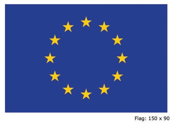 Vlag Europa 90x150cm