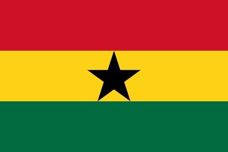 Vlag Ghana 90x150cm