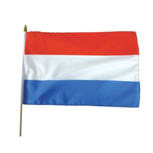 Vlag op Stok Nederland 30x45cm