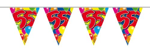 10m Vlaggenlijn Ballon 55 jaar