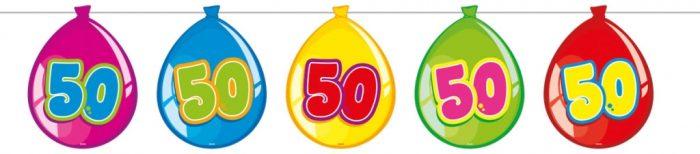 10m Vlaggenlijn Ballonnen 50 Jaar