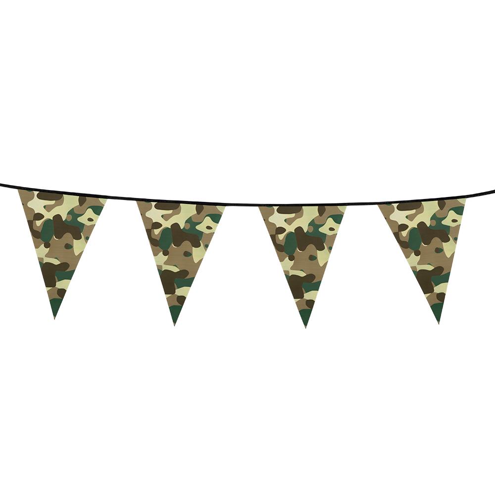 6m Vlaggenlijn Camouflage