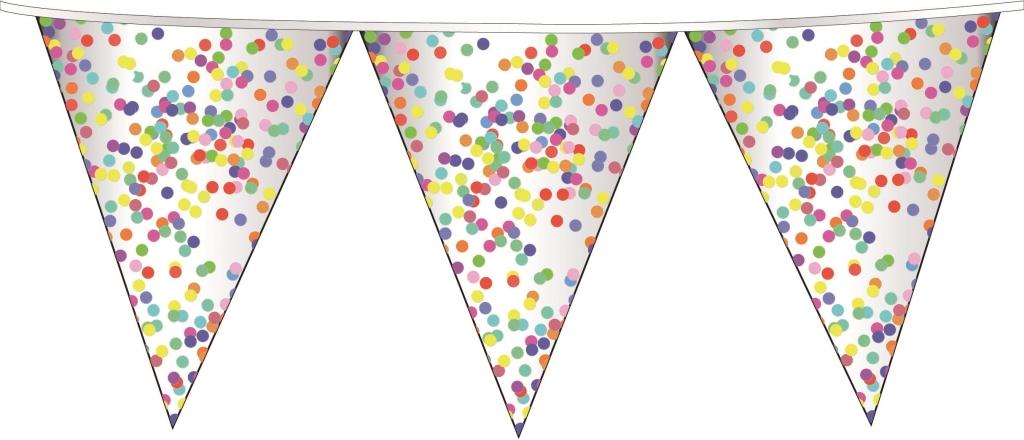 Vlaggenlijn Confetti 6m