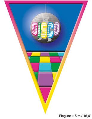 Vlaggenlijn Disco 5meter