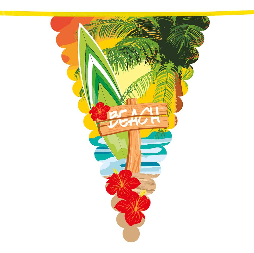 6m Vlaggenlijn Maxi 'Beach' 45cm