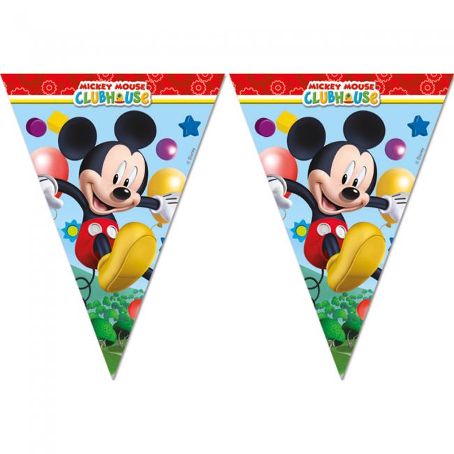 2.3m Vlaggenlijn Mickey Mouse