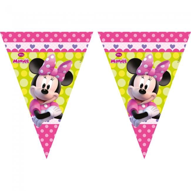 2.3m Vlaggenlijn Minnie Mouse