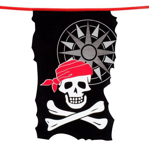 Vlaggenlijn Piraten Zwart-Wit-Rood 10meter