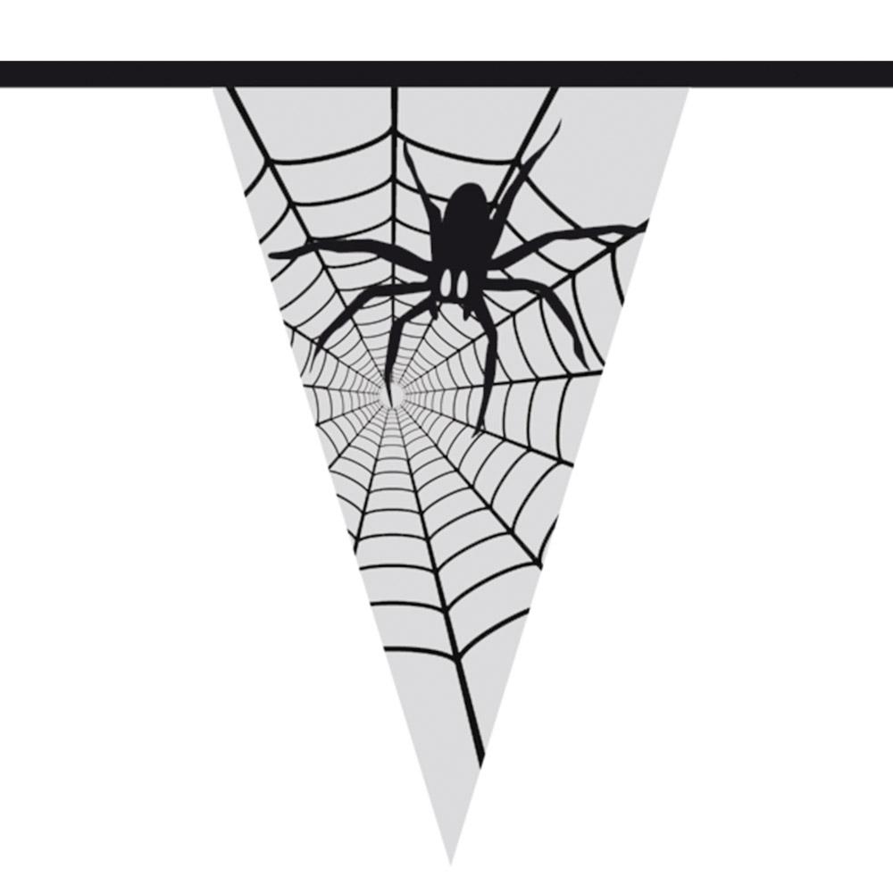 6m Vlaggenlijn Spinnenweb