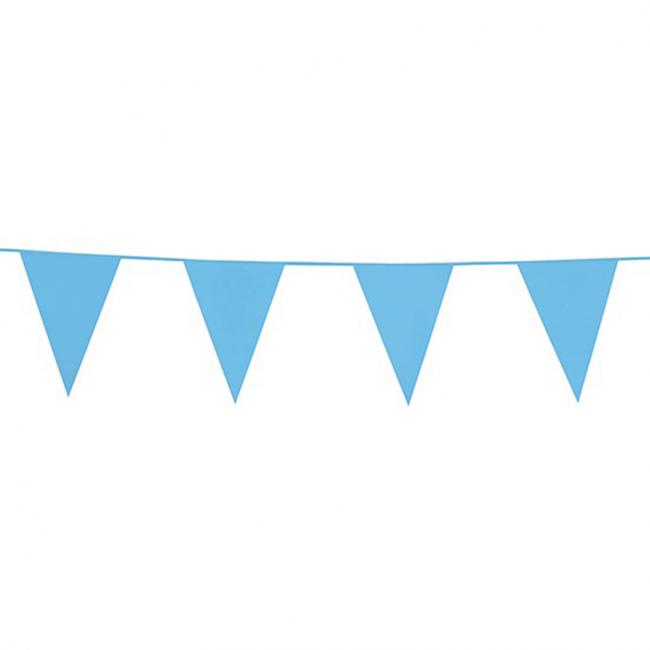 10m Vlaggenlijn Uni Licht Blauw