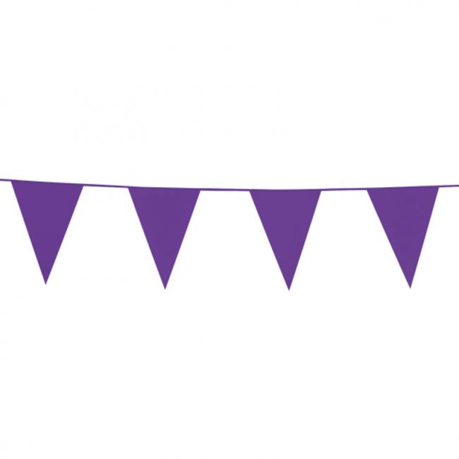 10m Vlaggenlijn Uni Paars