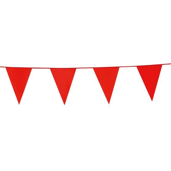 10m Vlaggenlijn Uni Rood