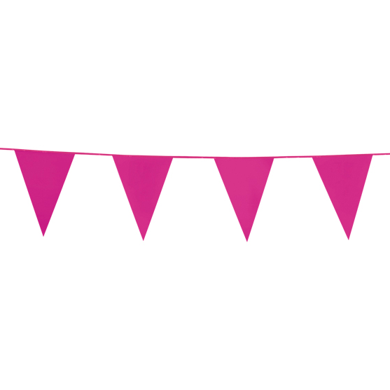 10m Vlaggenlijn Uni Roze
