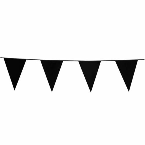 10m Vlaggenlijn Uni Zwart