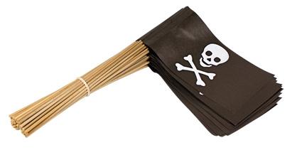 Vlaggetje Papier Piraat